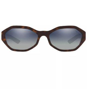 PRADA PR 20VS 56mm Oval Sunglasses in Havana Blue